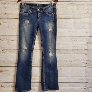 Silver Pioneer bootcut jeans